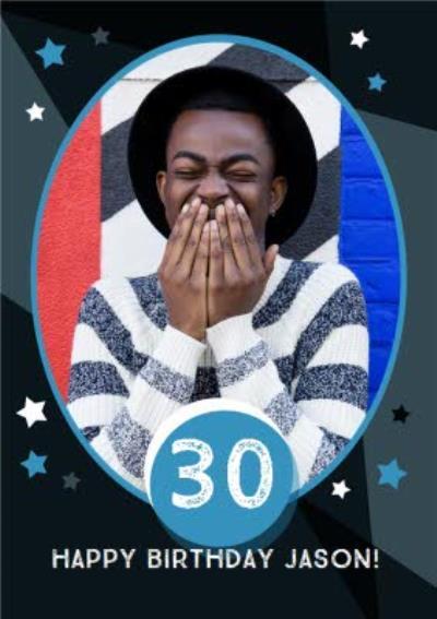 Stars 30Th Birthday Photo Card