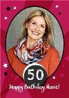 Stars And Stripes 50Th Birthday Photo Card