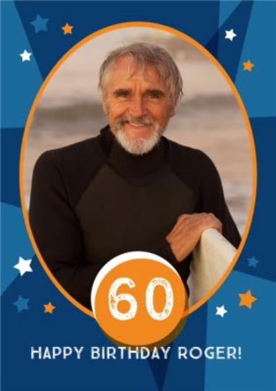 Stars 60Th Birthday Photo Card