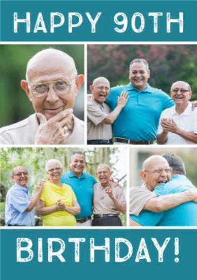 90th Birthday Photo Upload Card