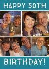 50th Birthday Photo Upload Card