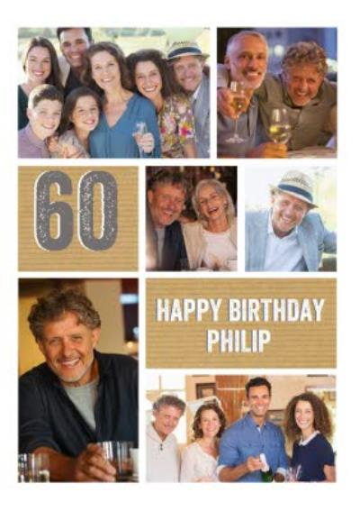 60th Birthday Photo Upload Card