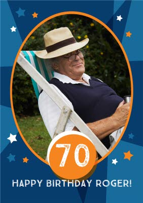 70th Birthday Photo Upload Card