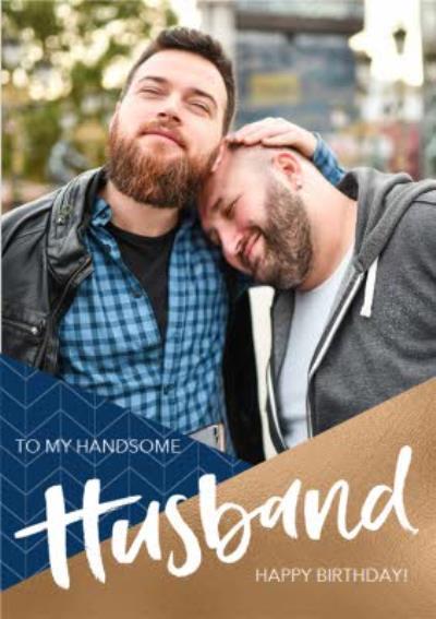 Husband Photo Upload Birthday Card