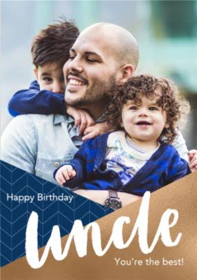 Uncle Photo Upload Birthday Card