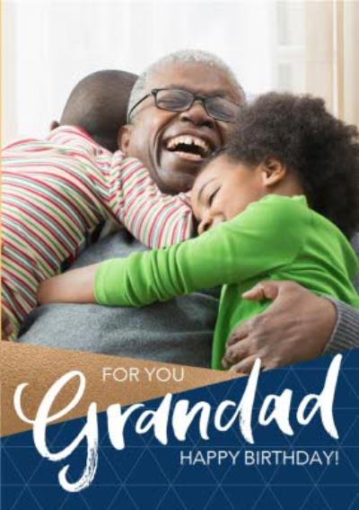 Grandad Photo Upload Birthday Postcard