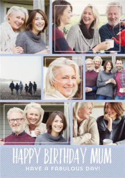 Birthday Card - Photo Upload Card - Mum