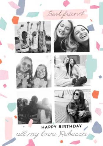 Best friend photo birthday card