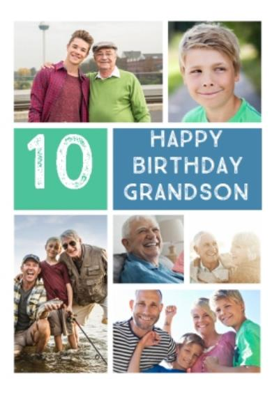 Grandson Photo Upload Birthday Card