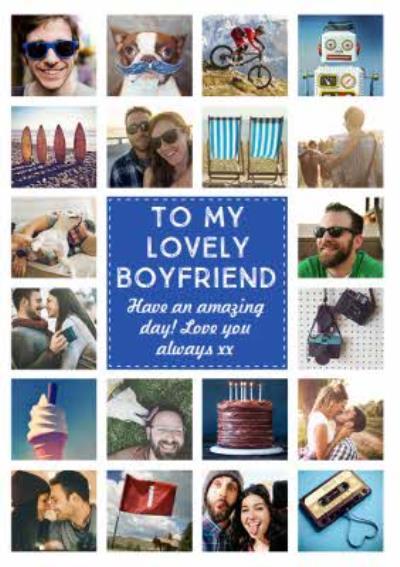 Boyfriend Multi Photo Upload Birthday Card