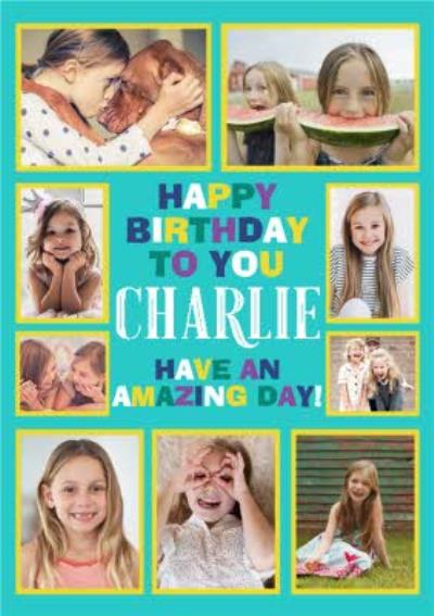 Multi Photo Upload Kids Birthday Card