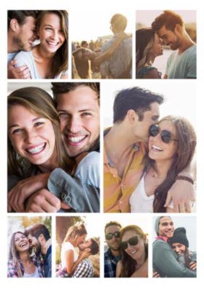 9 Photo Upload personalised One I love Postcard