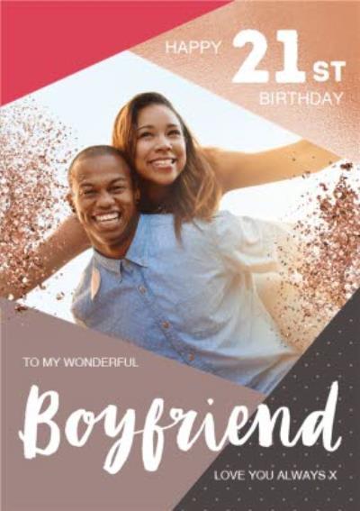 Photo Upload Birthday Card To My wonderful Boyfriend