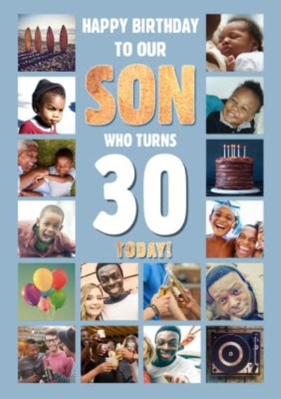 Photo Upload Birthday Card To our son who Turns 30