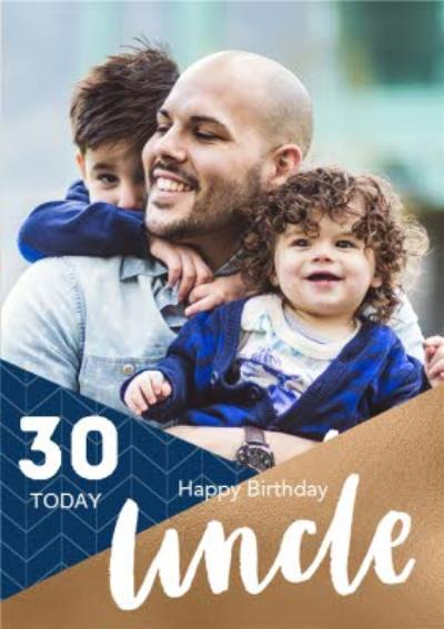 Photo Upload Birthday Card For Uncle 30 Today