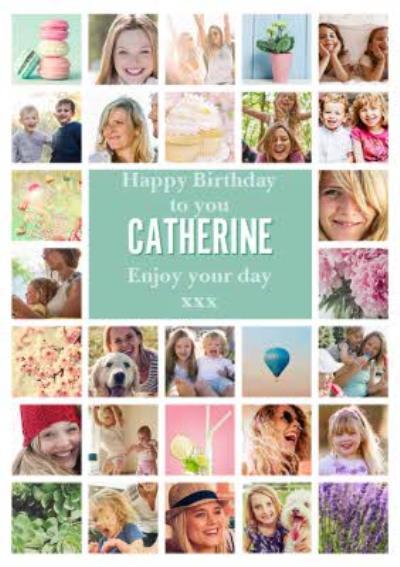 Happy Birthday Multi Photo Upload Enjoy Your Day Birthday Card