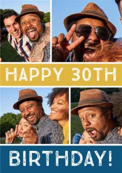 Multiple Photo Upload 30th Birthday Card