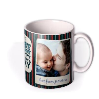 Father's Day Best Daddy 2 Photo Upload Mug