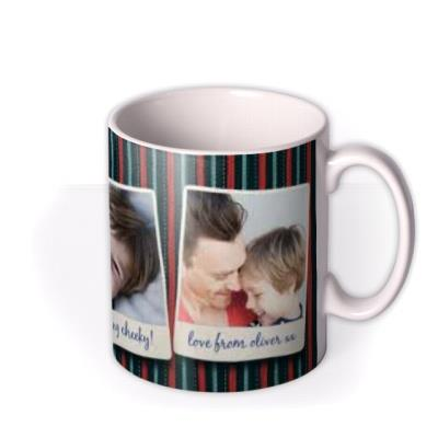 Father's Day Best Daddy 3 Photo Upload Mug