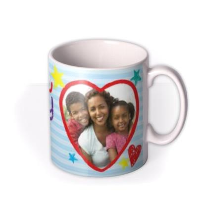 Love You Daddy Crayon Photo Upload Mug