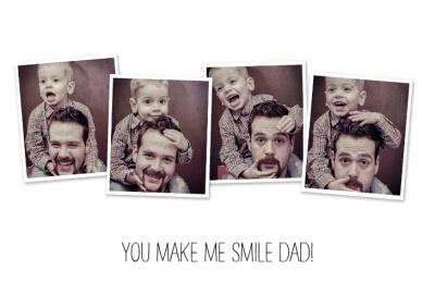 You Make Me Smile Personalised Photo Upload Birthday Card For Dad