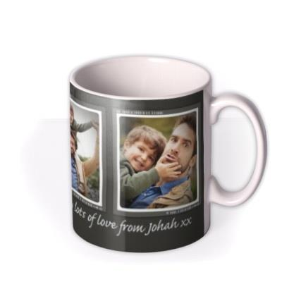 Father's Day Trio Photo Upload Mug
