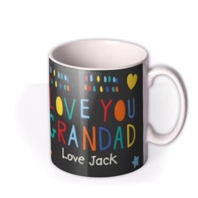 Father's Day Grandad Heart Photo Upload Mug