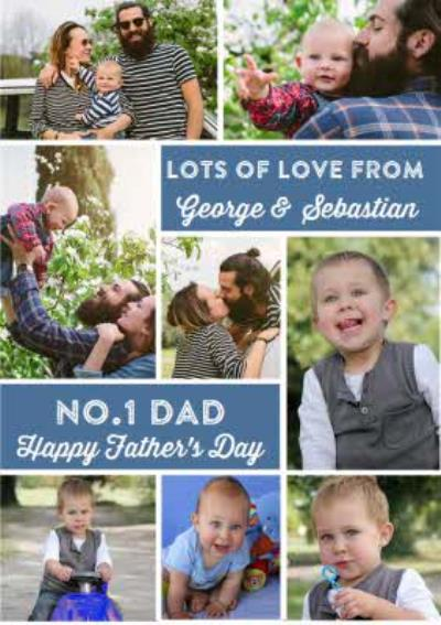 No.1 Dad - Photo Customised Father's Day Card