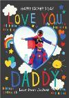 Super Colourful Love You Daddy Happy Father's Day Photo Card