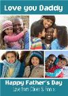 Love You Daddy Happy Fathers Day Card