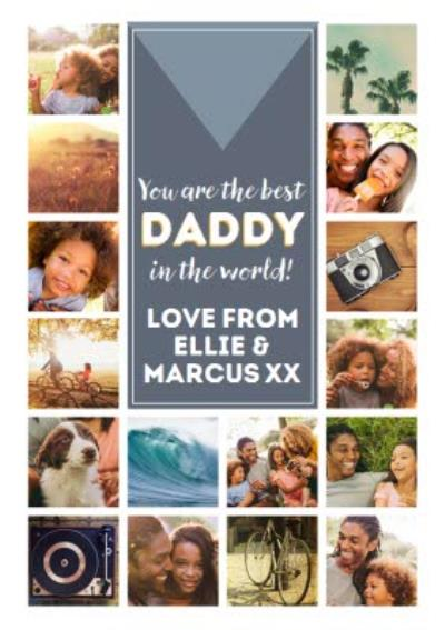 You Are The Best Daddy Happy Father's Day Multi-Photo Card