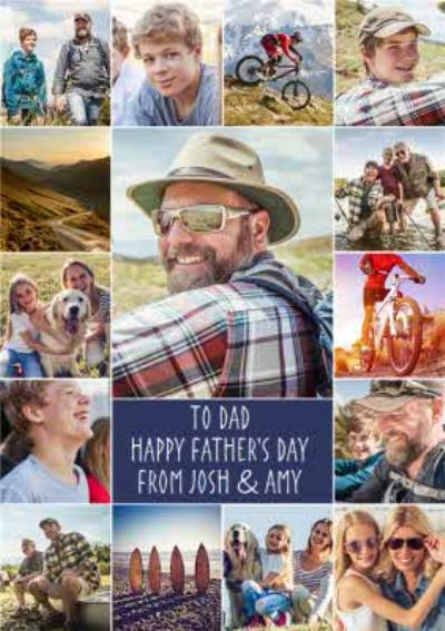15 photos Photo Upload Card for Father's Day - Dad