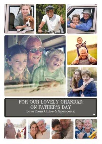 Photo Upload Father's Day Card for Grandad - 10 photos design