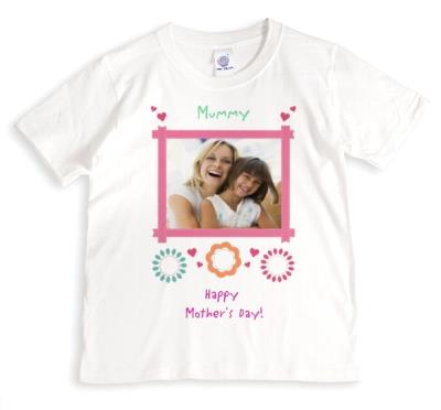 Mother's Day To My Mummy Photo Upload T-shirt