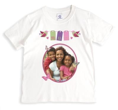 Mother's Day Birds Photo Upload T-shirt