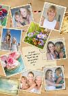 Postcards Collage Personalised Photo Upload Birthday Card For Mum