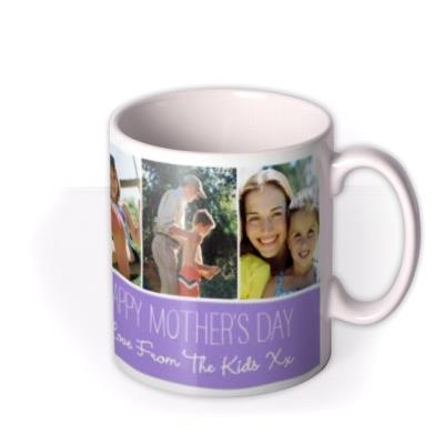 Mother's Day Purple Grid Photo Upload Mug