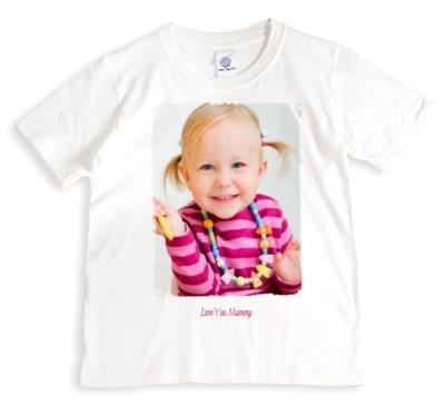 Mother's Day Love You Mummy Photo Upload T-Shirt