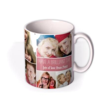 Mother's Day Pink Collage Photo Upload Mug
