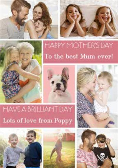 Mother's Day Card - Best Mum Ever Photo Upload Card