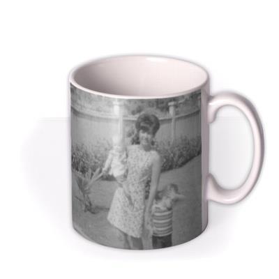 Mother's Day Violet Heart Photo Upload Mug