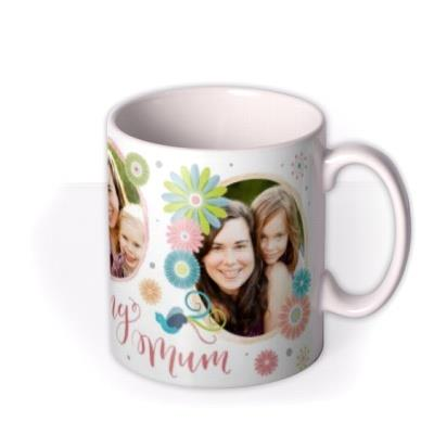 Mother's Day Floral Photo Upload Mug