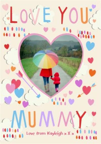 Mother's Day Card Love You Mummy Photo Upload Postcard