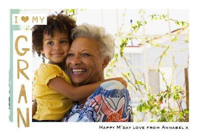 I Heart My Gran Photo Upload Card