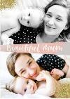 Mother's Day Card - beautiful mum - photo upload card - 2 photos