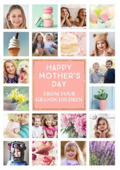 Mother's Day Card - From your Grandchildren - Photo Upload Card - 20 Photos