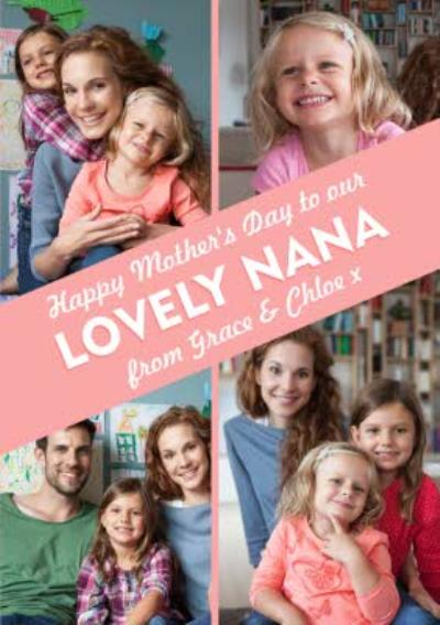 Mother's Day Card - To Our Lovely Nana - Photo Upload Card