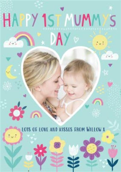 Happy First Mummys Day Photo Upload Mothers Day Card
