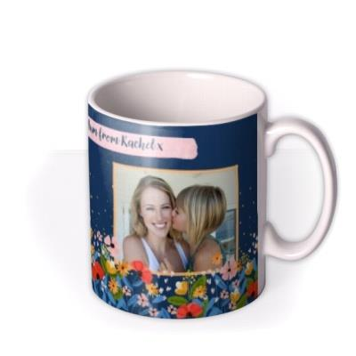 Cute floral Photo Upload Mother's Day Mug
