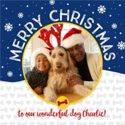 Merry Christmas To The Dog Photo Upload Card